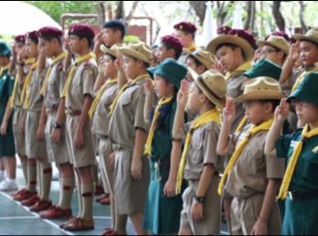 พิธีวางพวงมาลาและถวายราชสดุดีวันมหาธีราชเจ้า ปีการศึกษา 2560