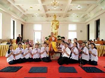 นักเรียนสาธิต ได้รับรางวัล รองชนะเลิศอันดับ๑ การประกวดสวดมนต์ยกห้อง ในงานสัปดาห์เผยแผ่พระพุทธศาสนา เนื่องในงานวันมาฆบูชา