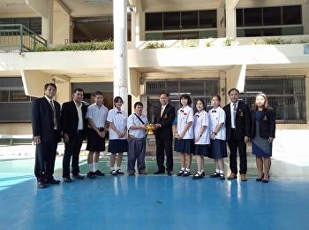 โรงเรียนสาธิตมหาวิทยาลัยราชภัฏสวนสุนันทา ฝ่ายมัธยม มอบเงินบริจาคช่วยเหลือแก่สมาคมคนตาบอดแห่งประเทศไทย