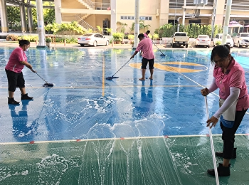 Clean the school before opening the basic adjustment course 2019