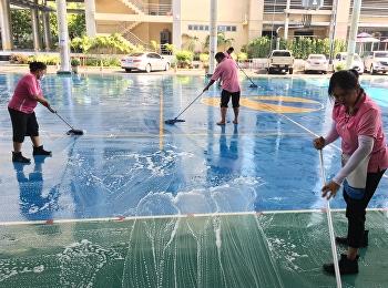 ทำความสะอาดโรงเรียนก่อนเปิดเรียนปรับพื้นฐาน 2562