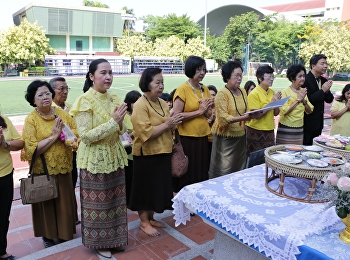 Alumni Association making merit for charity HM the Queen Sunandhakumariratana,