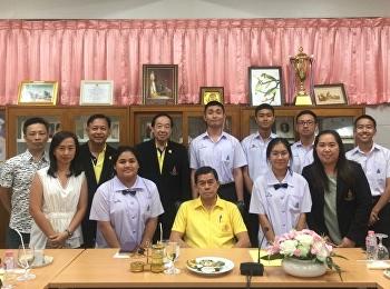 นายกสภามหาวิทยาลัยให้โอวาทนักเรียนตัวแทนประเทศไทยเข้าร่วมค่ายวิทยาศาสตร์เยาวชนอาเซียน 2019