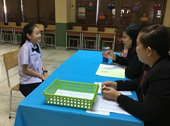 Interview for students enrolled in M.1 level of quota type from the Demonstration School of Suan Sunandha Rajabhat University