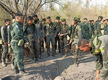 Year 2 and 3 military students attend a field training camp in Khao Chon Kai.