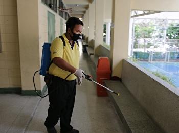 Kill the COVID-19 virus in the school area.