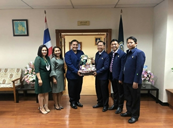 The management team met and congratulated Dr. Jongrak Watcharinrat. On the occasion of your inauguration Kasetsart University
