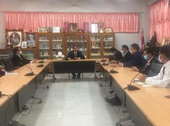 คณะผู้บริหารประชุมหารือและพิจารณาการปิดการเรียนการสอนในกรณีพิเศษ ในช่วงสถานการณ์การแพร่ระบาด COVID-19